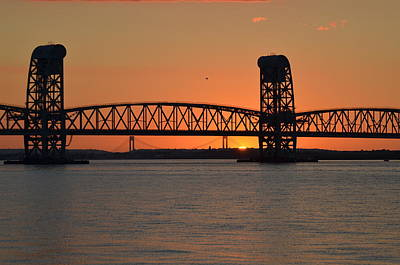 Sunset's Last Light Bridges Over Jamaica Bay Poster