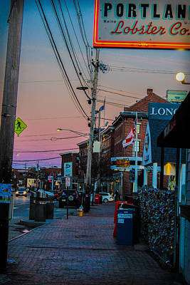 Sunsetting Over The Old Port Poster
