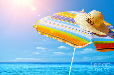 Sunshade And Hat Poster