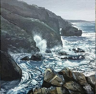 Sunshine And Cliffs  Poster by Keran Sunaski Gilmore