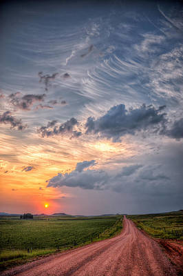 Sunshine And Storm Clouds Poster