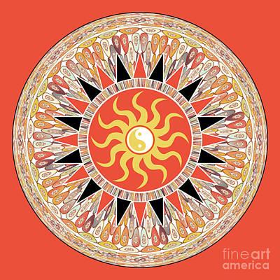 Sunshine Mandala Poster