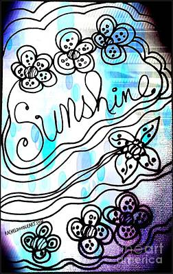 Poster featuring the drawing Sunshine by Rachel Maynard