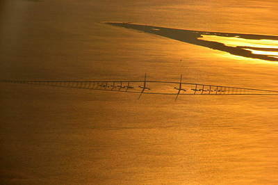 Sunshine Skyway Bridge At Sunset Poster