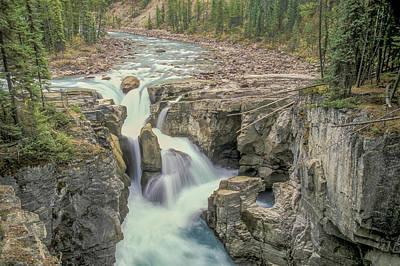 Poster featuring the photograph Sunwapta Falls 2006 01 by Jim Dollar