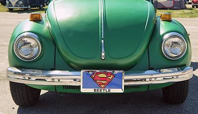 Super Beetle Poster by Laurie Perry