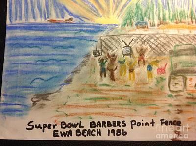 Super Bowl Ewa Beach Poster by Willard Hashimoto