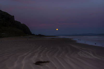 Super Moon At Downhill Beach Poster