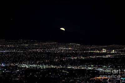Super Moon In Las Vegas Poster
