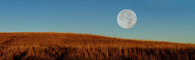 Super Moon Over The Prairie Poster
