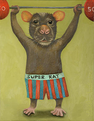 Super Rat 2 Poster by Leah Saulnier The Painting Maniac