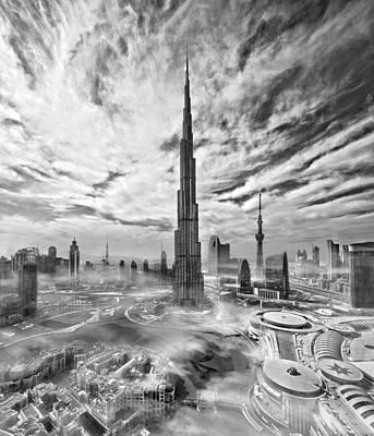 Super Skyline Poster by Koji Tajima