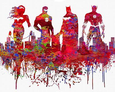 Superhero.the Avengers. Poster by Elena Kosvincheva
