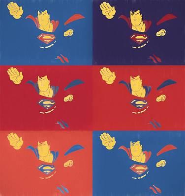 Superman Pop Art Panels Poster