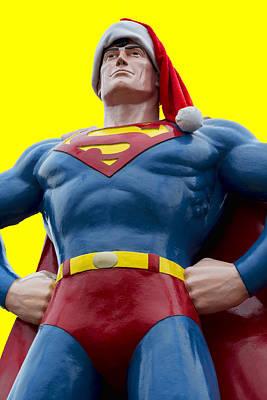 Superman Santa Poster by Stephen Stookey