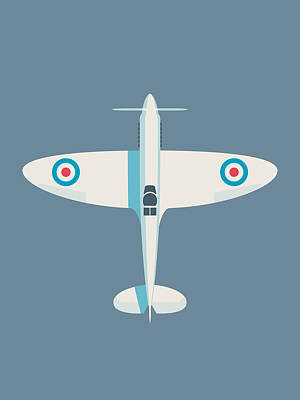 Supermarine Spitfire Wwii Raf Royal Air Force Fighter Aircraft - Slate Poster