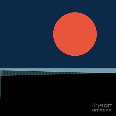 Poster featuring the digital art Supermoon Over The Sea by Klara Acel
