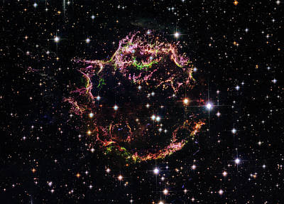 Poster featuring the photograph Supernova Remnant Cassiopeia A by Marco Oliveira