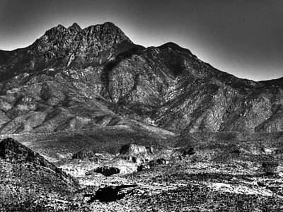 Four Peaks From Lost Dutchman State Park Poster