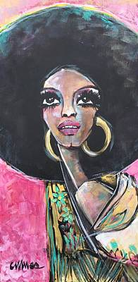 Poster featuring the painting Supreme Love For Diana Ross by Laurie Maves ART