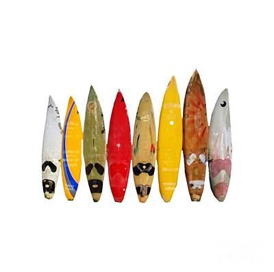 Poster featuring the digital art Surf Board T-shirt by Edward Fielding