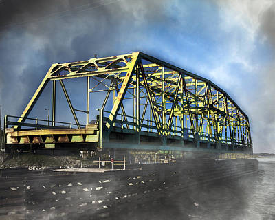 Surf City Nc Swing Bridge Poster