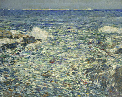 Surf, Isles Of Shoals Poster by Childe Hassam