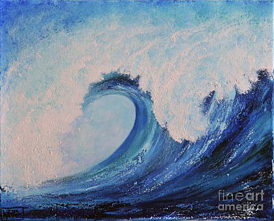 Poster featuring the painting Surf No.2 by Teresa Wegrzyn