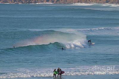 Surf Rainbow Poster