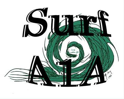 Surf Sign Poster