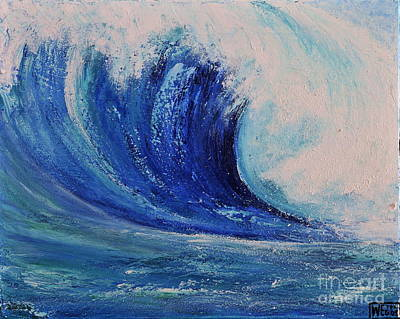 Poster featuring the painting Surf by Teresa Wegrzyn