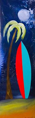 Surfboard Poster by Barry Knauff