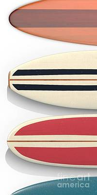 Poster featuring the digital art Surfboards Cell Phone Case by Edward Fielding