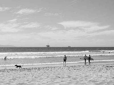 Strollin On Dog Beach Poster
