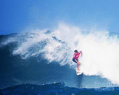 Surfer Alex Ribeiro Poster by Scott Cameron