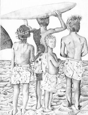 Surfer Boys Poster