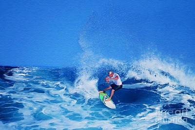 Surfer Charles Martin Poster by Scott Cameron