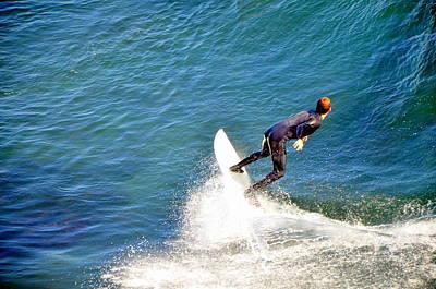 Surfer, Steamer Lane, Santa Cruz, Series 19 Poster by Antonia Citrino