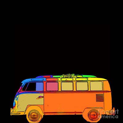 Surfer Van Poster by Edward Fielding