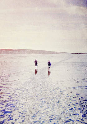 Poster featuring the photograph Surfers In The Snow by Lyn Randle