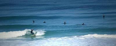 Surfing Carmel Beach Poster by Joyce Dickens