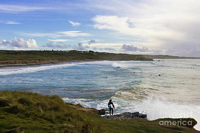 Surfing Godrevy Poster