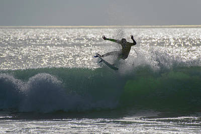 Poster featuring the photograph Surfing The Light by Thierry Bouriat