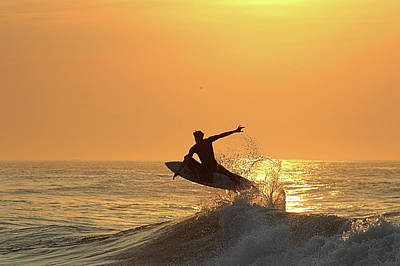 Poster featuring the photograph Surfing To The Sky by Robert Banach