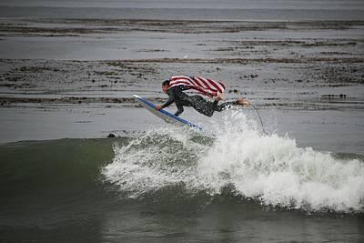 Surfline Flying Flag Winning Shot Poster by Brant Schenk