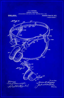 Surgical Appliance Patent Drawing 2b Poster by Brian Reaves