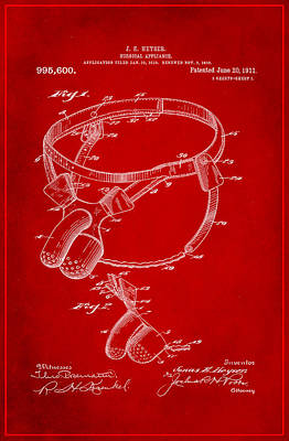 Surgical Appliance Patent Drawing 2e Poster by Brian Reaves