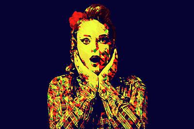 Surprise Girl Pop Art Poster by Elena Riim