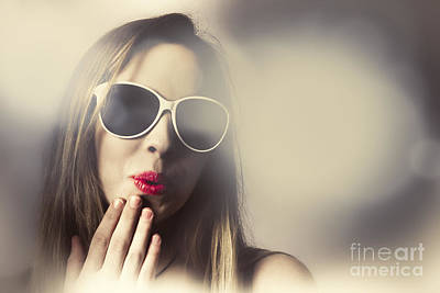 Surprised Pinup Girl In Retro Fashion Makeup Poster by Jorgo Photography - Wall Art Gallery