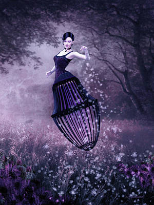 Surreal Fairy And Her Magic Seed  Poster